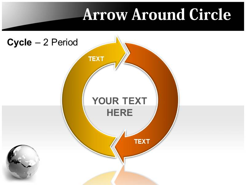 Arrow Around Circle Powerpoint Templates