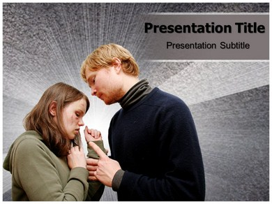 Physical abuse Powerpoint Templates