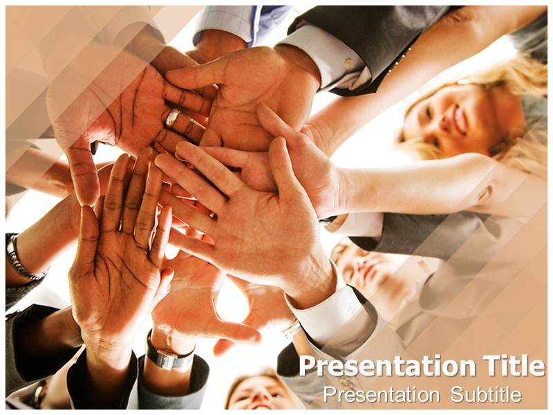 team work Illustration Powerpoint Templates
