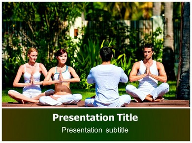Yoga Health Benefits Powerpoint Templates