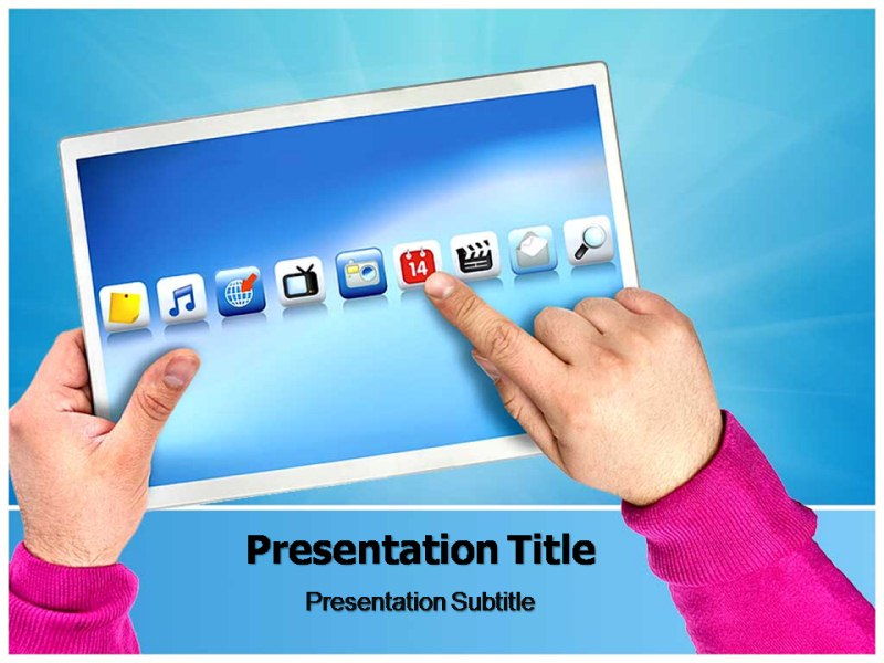 Touch Screen Monitor Powerpoint Templates