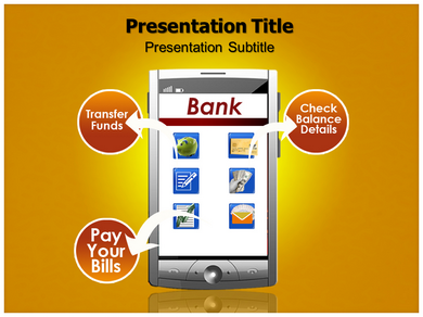 Mobile Banking Issues Powerpoint Templates