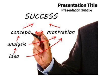 Success Stairs Powerpoint Templates