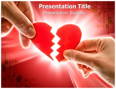 Broken heart Powerpoint Templates