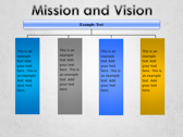 Mission and Vision slides for powerpoint