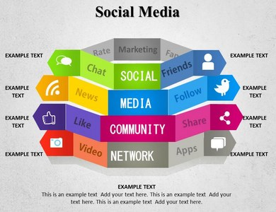 social media powerpoint backgrounds slideworld