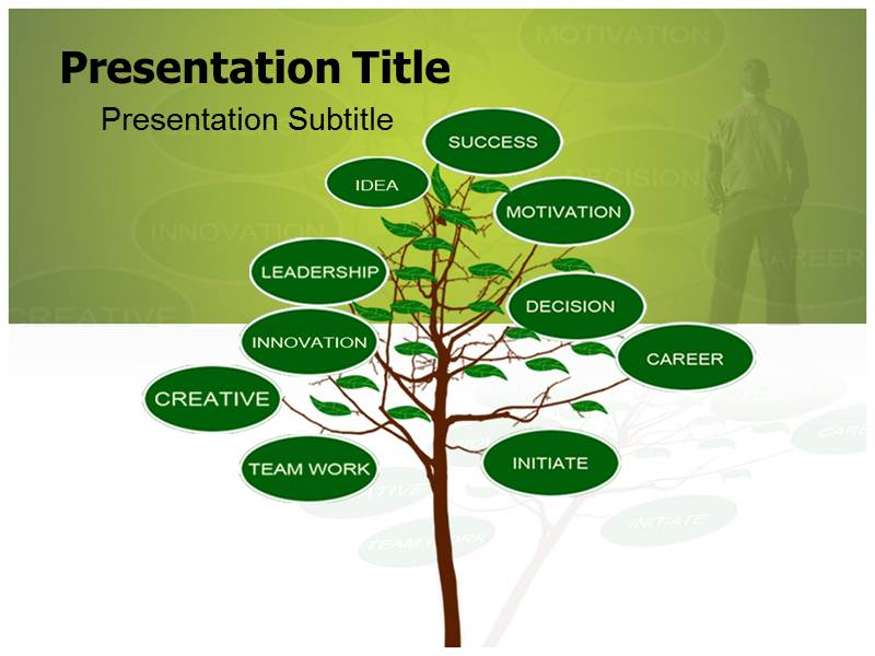 decision tree visual powerpoint template, powerpoint theme, Powerpoint templates