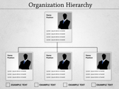 Organization Hierarchy powerPoint template