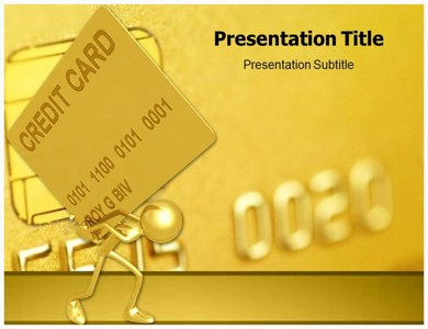 Golden Credit Card Powerpoint Templates