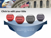 America flag powerpoint theme templates