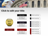 America flag ppt themes template