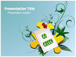 Powerpoint Templates for  Go Green Puzzle