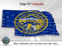 Nebraska PowerPoint map