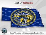 Map of Nebraska Powerpoint Template