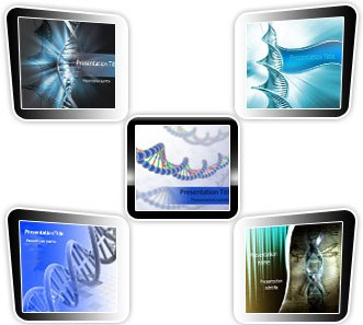 Medical powerpoint templates - DNA Bundle