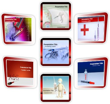 Medical powerpoint templates -  Syringe Bundle