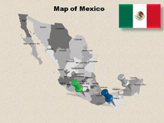 Mexico Cities powerpoint map