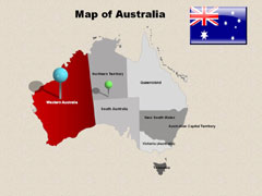 Australia PowerPoint map
