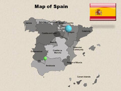 Interactive Spain PowerPoint map