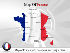 France PowerPoint map