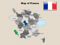 Geographical  Of France powerpoint map