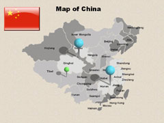 Of China PowerPoint map