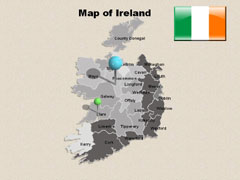 City  Of Ireland PowerPoint map