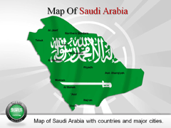 Geographical  Of Saudi Arabia PowerPoint map
