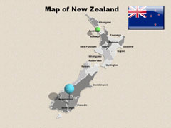Extended  Of New Zealand PowerPoint map