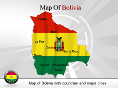 Bolivia powerpoint map