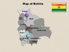 Detailed Bolivia PowerPoint map