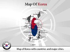 Korea PowerPoint map