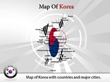 Map of Korea Powerpoint Template