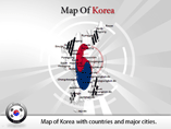 Animated Powerpoint Templates - Map of Korea