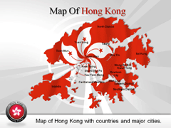 Hong Kong PowerPoint map