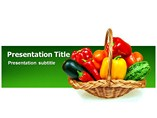Vegetable Basket Powerpoint (PPT) Template