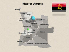 Physical  Of Angola powerpoint map