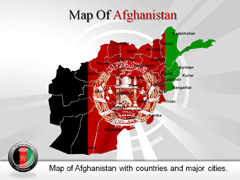 Detailed  Afghanistan PowerPoint map