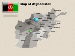 Afghanistan PowerPoint map