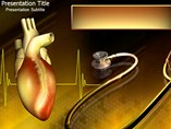 Heart and Stethoscope PowerPoint Backgrounds