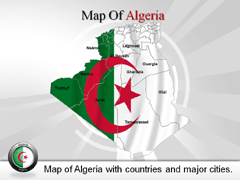 Algeria Country powerpoint map