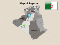 Extended  Algeria PowerPoint map