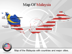 Malaysia PowerPoint map