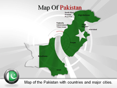 Pakistan PowerPoint map