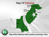 Map of Pakistan PPT Slide