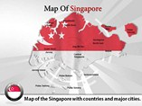 Map of Singapore Powerpoint Template