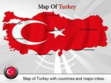 Map of Turkey Powerpoint Template