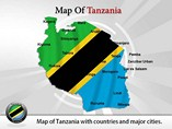 Tanzania Map Powerpoint (PPT) Template