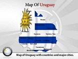 Uruguay Map Powerpoint(PPT) Template