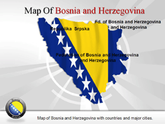 Bosnia PowerPoint map